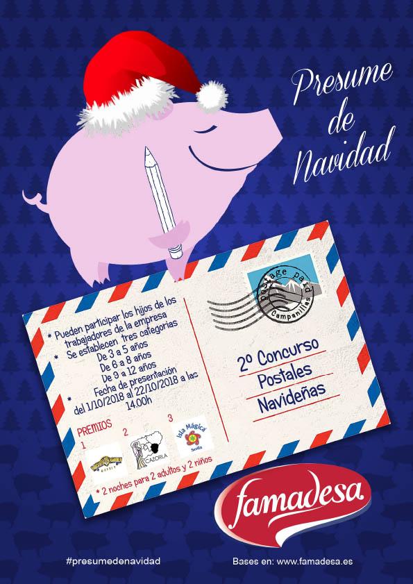 Concurso postales 2018 presume de navidad famadesa malaga